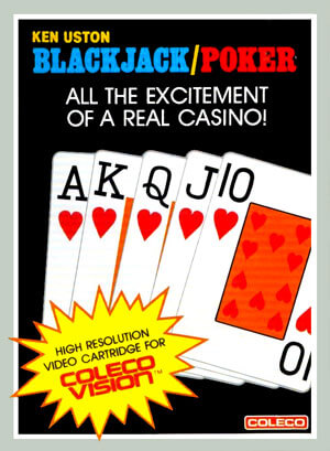 Ken Uston Blackjack-Poker for Colecovision Box Art