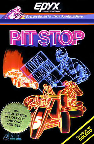 Pitstop for Colecovision Box Art