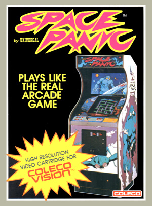 Space Panic for Colecovision Box Art
