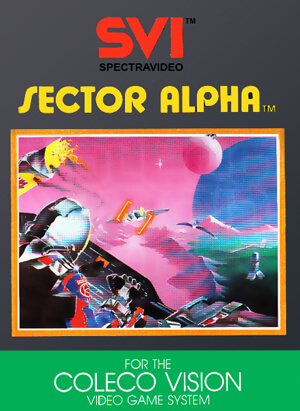Sector Alpha for Colecovision Box Art