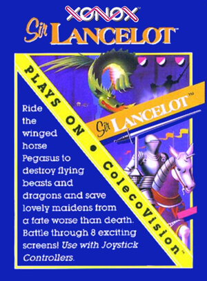 Sir Lancelot for Colecovision Box Art