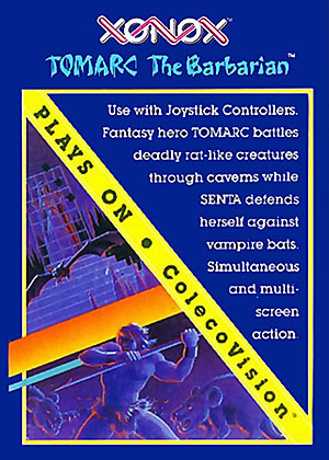 Tomarc the Barbarian for Colecovision Box Art