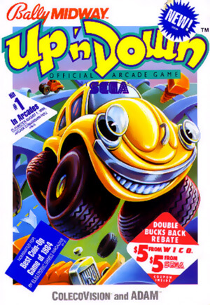 Up'n Down for Colecovision Box Art