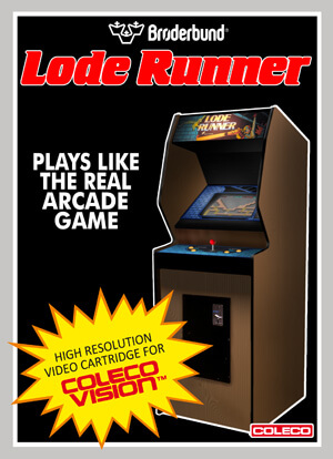 Loderunner for Colecovision Box Art