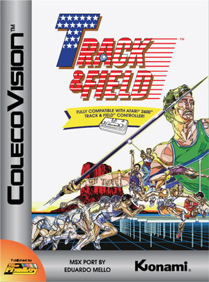 Track & Field for Colecovision Box Art