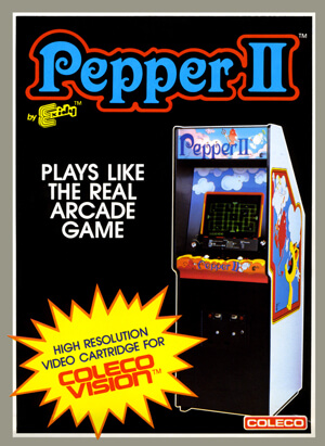 Pepper II for Colecovision Box Art