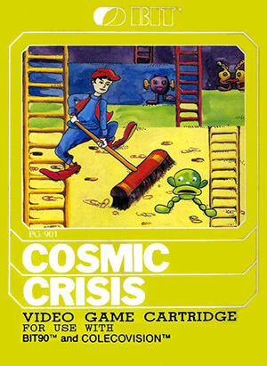Cosmic Crisis for Colecovision Box Art