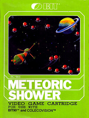 Meteoric Shower for Colecovision Box Art