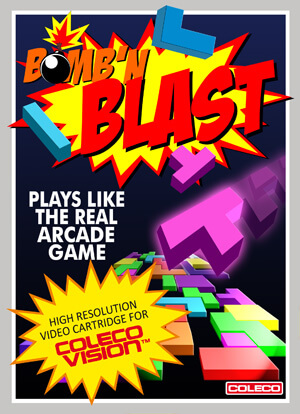 Bomb'n Blast for Colecovision Box Art