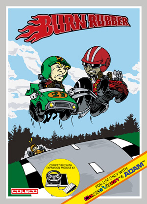 Burn Rubber for Colecovision Box Art