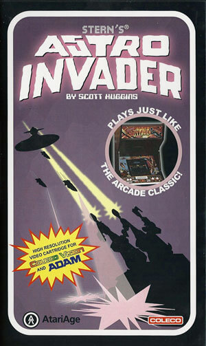 Astro Invader for Colecovision Box Art