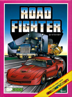 Road Fighter for Colecovision Box Art