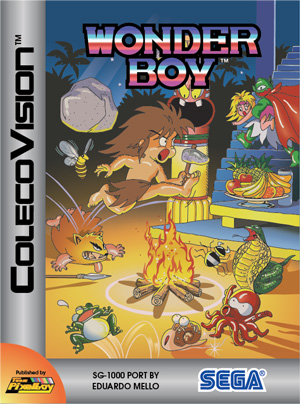 Wonder Boy for Colecovision Box Art