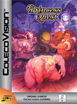 Princess Quest for Colecovision Box Art
