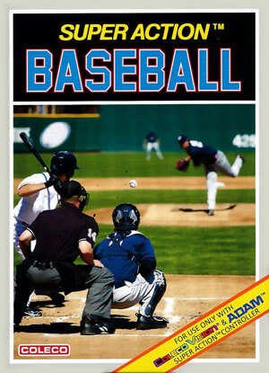 Super Action Baseball for Colecovision Box Art