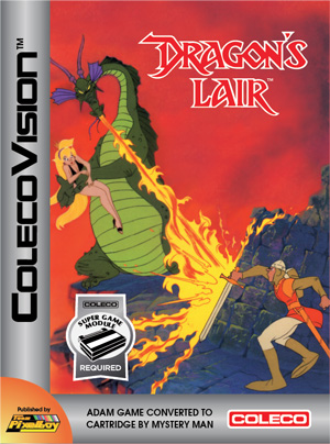 Dragon's Lair for Colecovision Box Art