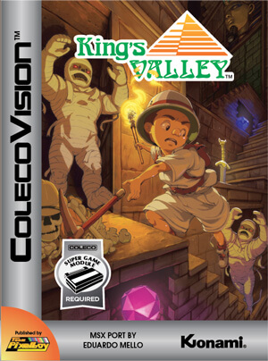 King's Valley for Colecovision Box Art