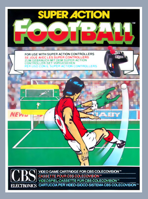 Super Action Football (Soccer) for Colecovision Box Art