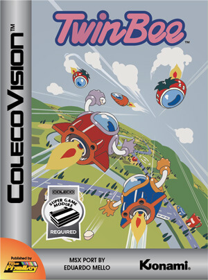 TwinBee for Colecovision Box Art