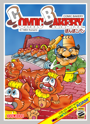 Comic Bakery for Colecovision Box Art