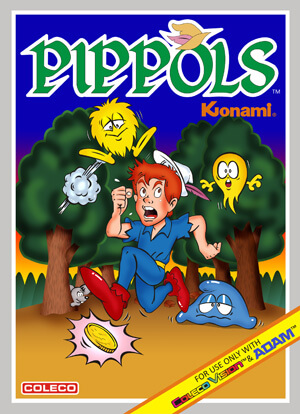 Pippols for Colecovision Box Art