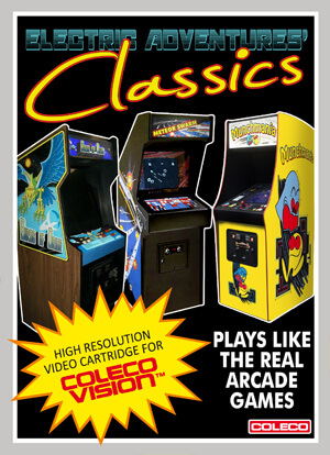 Electric Adventures' Classics for Colecovision Box Art