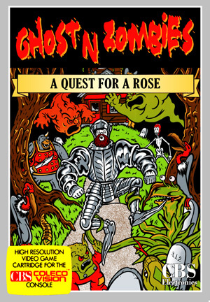 Ghost'n Zombies: A Quest For a Rose for Colecovision Box Art