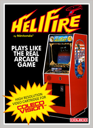 HeliFire for Colecovision Box Art