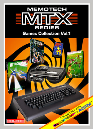 Memotech MTX Series Games Collection Vol.1 for Colecovision Box Art