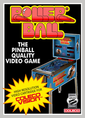 Roller Ball for Colecovision Box Art