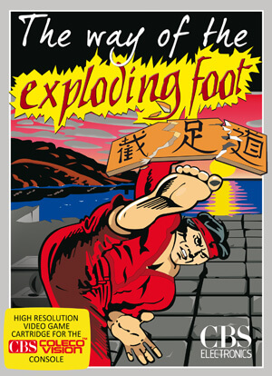 Way of the Exploding Foot, The for Colecovision Box Art