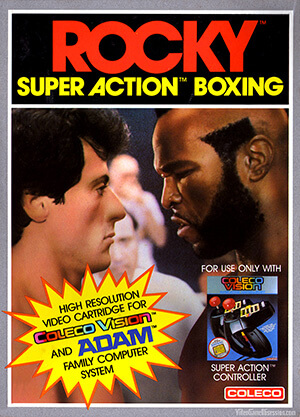 Rocky: Super Action Boxing for Colecovision Box Art