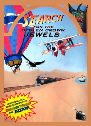 Search For The Stolen Crown Jewels for Colecovision Box Art