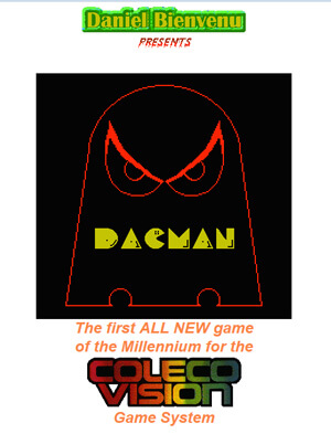 DacMan for Colecovision Box Art