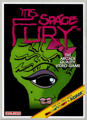 Miss Space Fury for Colecovision Box Art
