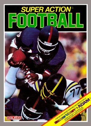 Super Action Football for Colecovision Box Art