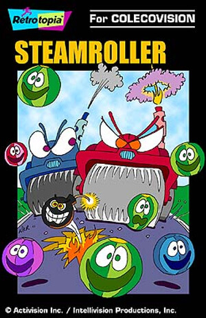 Steamroller for Colecovision Box Art