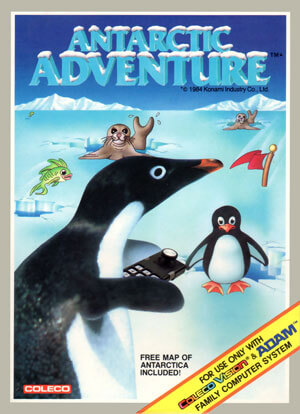 Antarctic Adventure for Colecovision Box Art