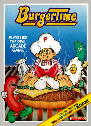BurgerTime for Colecovision Box Art