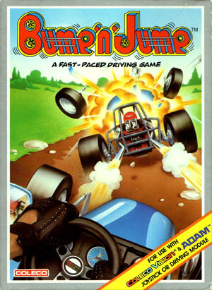 Bump'n Jump for Colecovision Box Art