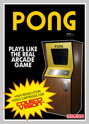 Pong for Colecovision Box Art