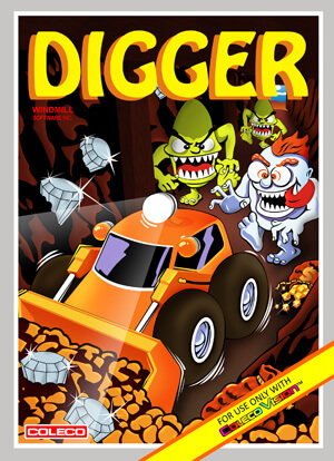 Digger for Colecovision Box Art