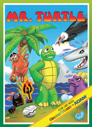Mr. Turtle for Colecovision Box Art