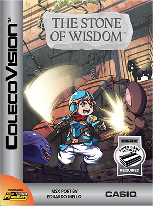 The Stone of Wisdom for Colecovision Box Art