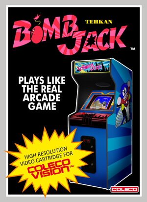 Bomb Jack for Colecovision Box Art
