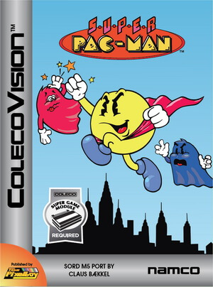 Super Pac-Man for Colecovision Box Art