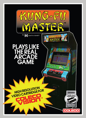 Kung-Fu Master for Colecovision Box Art