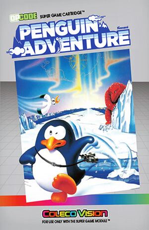 Penguin Adventure for Colecovision Box Art