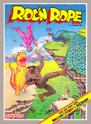 Roc'n Rope for Colecovision Box Art