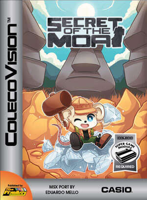 Secret of the Moai for Colecovision Box Art